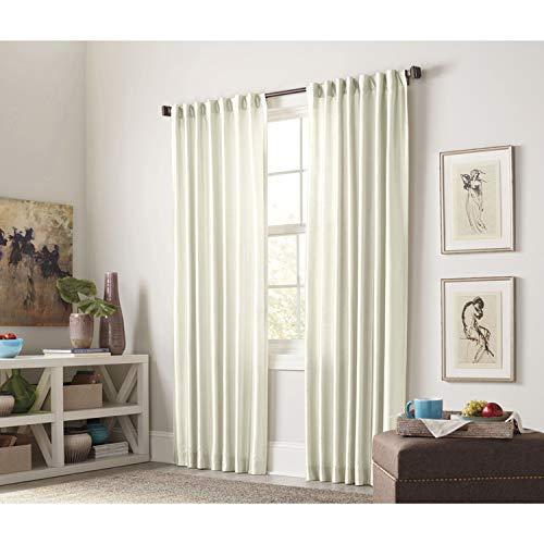 allen + roth Glenellen Ivory Interlined Single Curtain Panel 52 W x 84 L