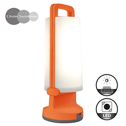 Eco-Light Solar-Leuchte Dragonfly mit Solarpanel und USB Ladefunktion, tragbar für viele Verwendungszwecke Z.B. Gartenparty, Festbeleuchtung, Wegelicht oder zur Sommerlichen Atmosphäre IP54 Orange