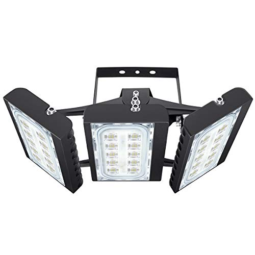 STASUN LED Flood Light, 150W 13500lm Security Lights with 330°Wide Lighting Area, OSRAM LED Chips, 6000K, Adjustable Heads, IP66 Waterproof Outdoor Floodlight for Yard, Court, Street, Parking Lot