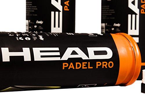 PACK DE 3 BOTES DE PELOTAS BOLAS DE PADEL TENIS HEAD PADEL PRO WPT ...