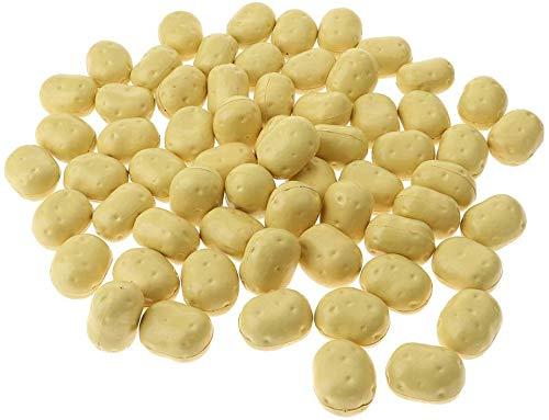 Tubayia 100 Stück Künstliche Obst Gemüse Kunstobst Kunstgemüse für Foto Requisiten Dekoration (Kartoffel)