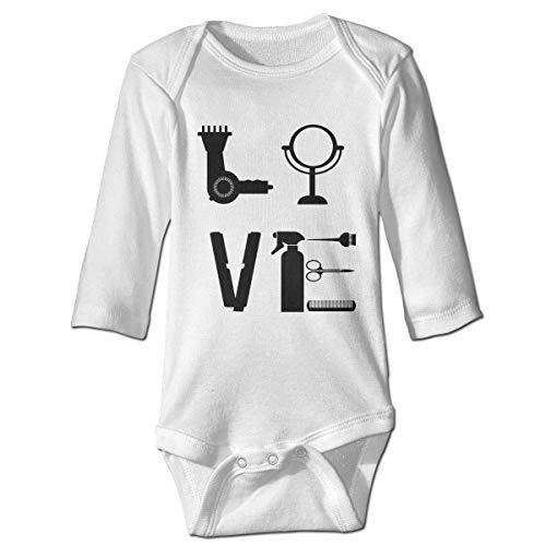 Jingliwang Body de bebé Ropa de mameluco Peluquería estampada Estilista Amor por su estilista Kawaii Unisex Bebé de manga larga Traje de traje Ropa