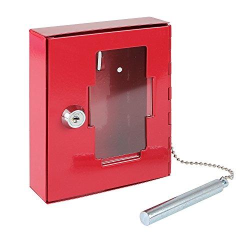 HMF 1021-03 Caja de Llaves de Emergencia con Martillo 15 x 12 x 4 cm, Rojo