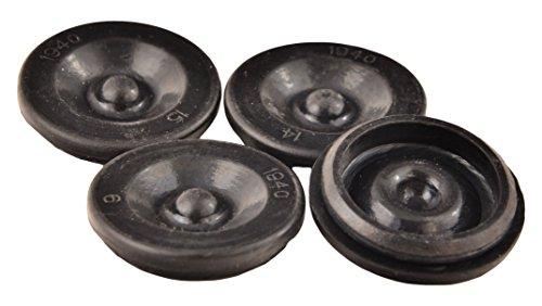 ToughGrade TRP Dexter EZ Lube Rubber Grease Plugs Hub Dust Cap, 4 Piece