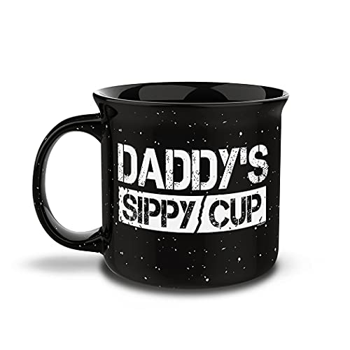 Shop4Ever Daddy's Sippy Cup Novelty Campfire Speckled Ceramic Coffee Mug Tea Cup Gift ~ Father's Day ~ (15 oz.)