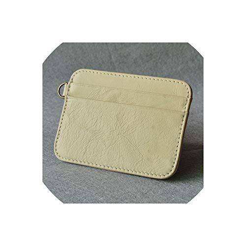 Tarjetero piel auténtica tarjetas crédito, tarjetero