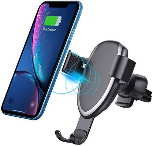 XYSQWZ Cargador Inalámbrico 2 En 1 para Automóvil Soporte para Teléfono Celular con Ventilación De Aire Cargador Rápido para Automóvil para iPhone/Samsung/Y Otros Teléfonos Inteligentes