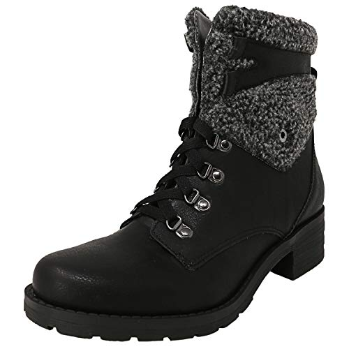 Mootsies Tootsies Women's Dino Ankle Boot, Black, 6.5 M US
