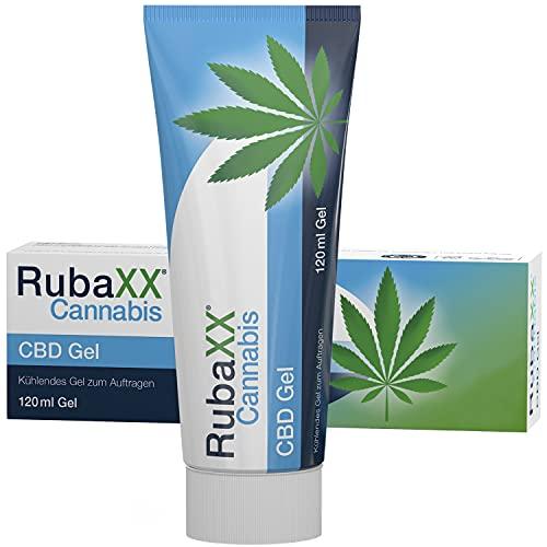 RubaXX® Cannabis CBD Gel - Kühlendes Gel mit ca. 600mg CBD und Menthol und Minzöl für beanspruchte Muskeln - 120 ml
