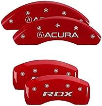 MGP Caliper Covers 39024SRDXRD Red Aluminum Brake Covers with Acura/RDX (Set of 4)