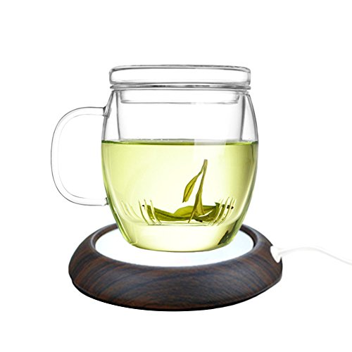Seahome USB Warming Coasters Set Holder Constant Heat Cup Mat Creative Tea Coffee Milk Doilies Home Furnishings for Tables