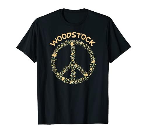 Peanuts Woodstock 50th Anniversary Peace Sign T-Shirt