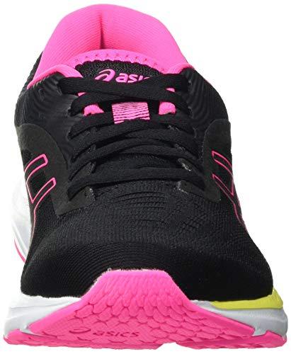 Asics Gel-Pulse 12, Road Running Shoe Mujer, Black/Hot Pink, 39.5 EU