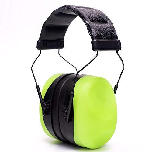 HGFDSA Noise Reduction Ear Muffs, Professionelle Noise Cancelling Ear Defenders Zum Schlafen Studing Konstruktion Schießstand Jagd (ohrstöpsel + 3D Blackout Eye Mask),Grün