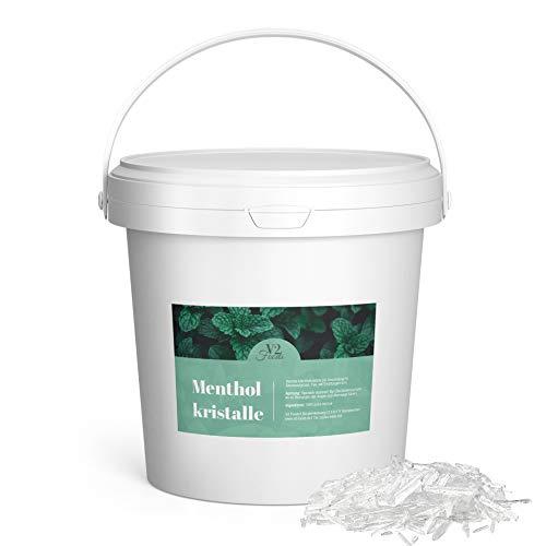 V2 FOODS Mentholkristalle im praktischem Eimer - Lebensmittelqualität - Sauna Kristalle für Aufguss 100% reines Minzöl 500 Gramm