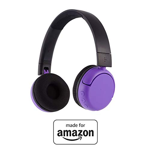 All New, Made for Amazon, Volume Limiting Bluetooth BuddyPhones, PopTime in Purple. Ages (8-15)