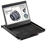 Rackmount Console - 1U 19' Rackmount Monitor, 1440 X 900 Resolution, VGA & DVI-D Input (Crystal Image Tech Part#RM-111-19WH) (VGA & DVI Input)