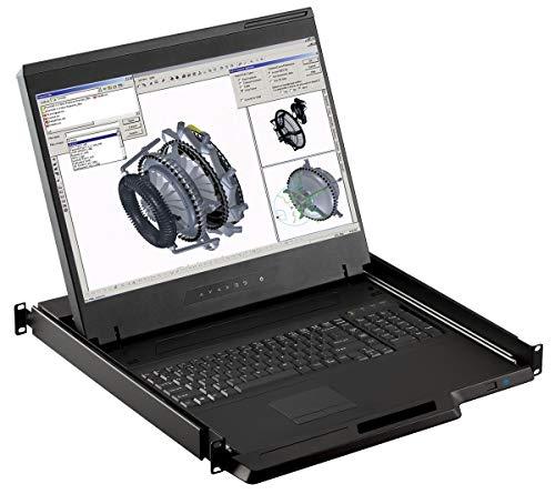 "Crystal Image Tech - Rackmount Console - 1U 19"" Rackmount Monitor, 1440 X 900 Resolution, VGA & DVI-D Input (Crystal Image Tech Part#RM-111-19WH) (VGA & DVI Input)"