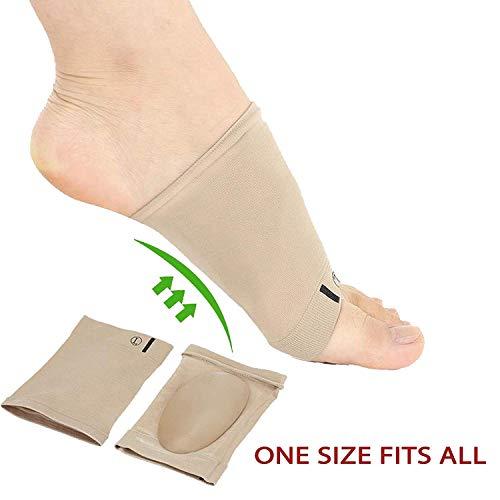 Voetboogsteunsokken, plantaire fasciitis platte voeten Orthotica mouwen met gelkussen, voetboog ondersteunt elastisch verband (2 paar) Arch Support