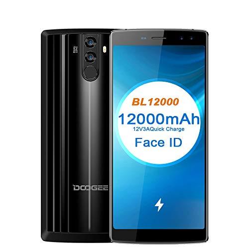 Original BL12000 Entsperren Smartphone, MTK6750T Octa-Core, 6.0''18: 9 FHD + 12000mAh Batterie, 4 GB RAM + 32 GB ROM, Quad Kamera 16.0MP + 8.0MP + 13.0MP, Android 7.0 Smartphone,Schwarz