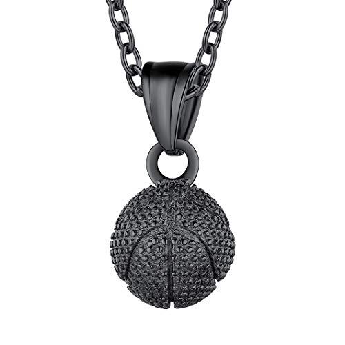 Richsteel Baloncesto Colgante con Collar Negro 51cm+ 5cm