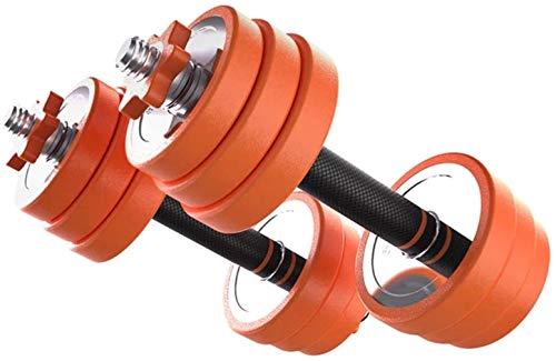 OMING - Mancuernas ajustables para hombre, fitness, para el hogar, pesas de desmontaje de peso ajustable, ideal para principiantes, fitness profesional, personas, ejercicio y fitness