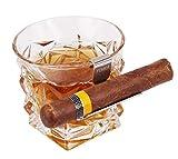TOIKA Stainless Steel Cigar Holder for Whiskey Glass