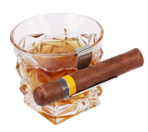 TOIKA Stainless Steel Cigar Holder for Whiskey Glass