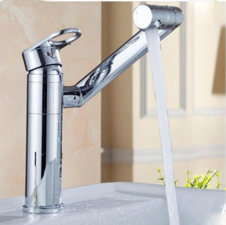 ETERNAL QUALITY Badezimmer Waschbecken Wasserhahn Messing Hahn Waschraum Mischer Mischbatterie Tippen Sie auf Alle Kupfer Einzelne Bohrung auf dem Wasser Waschtisch Armat