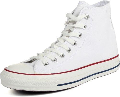 Converse Chuck Taylor All Star, Scarpe da ginnastica per adulti, unisex, modello alto, (White (Optical White)), 45 EU