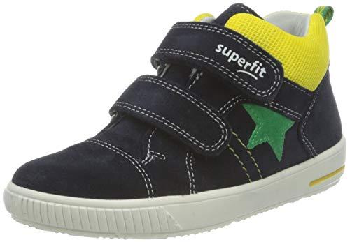 Superfit Moppy Lauflernschuhe Sneaker, BLAU/GELB 8010, 25 EU