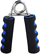 GOCART WITH G LOGO Double Color Foam Wrist Muscle Develope Finger Exercise Hand Grip (Blue)