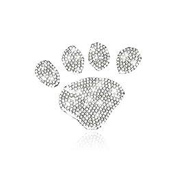 M-footprint Car Sticker Crystal Rhinestone