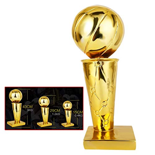 Pokale NBA Basketball Resin Überzug Trophy Championship Trophy-Wettbewerb Individuelle Geschenke -1: 1 Custom Basketball Fans Geschenke (Color : Gold, Size : 17 * 17.5 * 43cm)