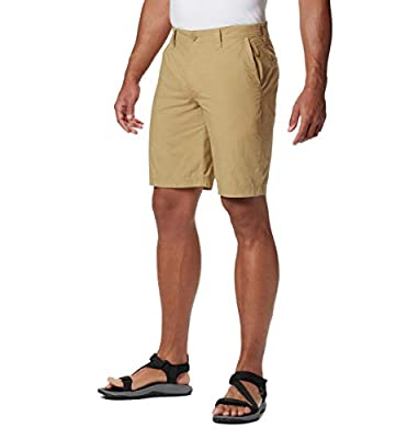 Columbia Men's Big and Tall Washed Out Chino Short, Crouton, 36x8