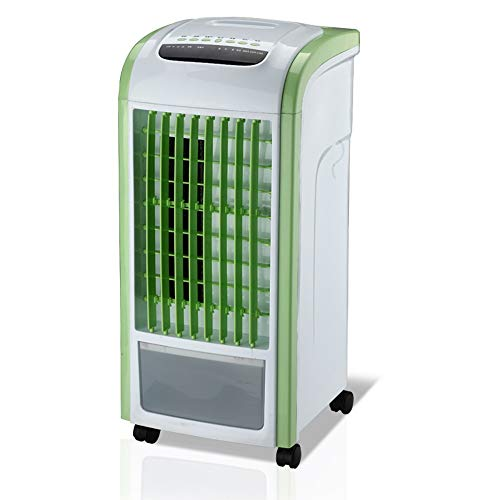 FUFU Pedestal Fans Evaporative Air Fan with Humidifier, Personal Indoor Swamp Cooler 3 Speed, 60° oscillation,7.5H Timing,Remote Included 60W Low Noise