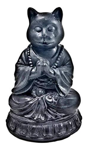 Bellaa 29615 Katzen-Statue Yoga Zen Pose Dhyana Mudra Buddha 15,2 cm