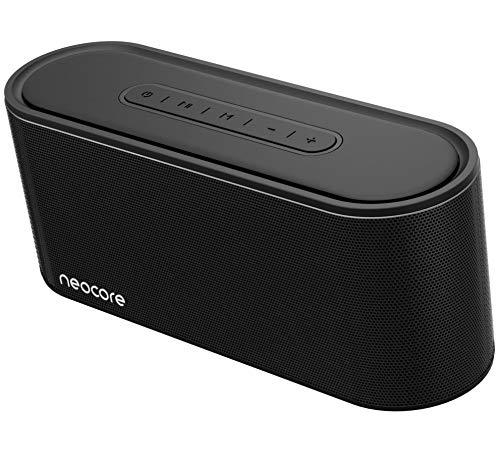 neocore Wave A3.60 (20 W, Bluetooth, Recargable, AUX, 30+ Horas, Ranura SD), Altavoz portátil para Smartphones, Tablets y Dispositivos MP3 Color Negro (Negro)