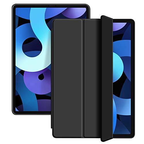 ZOYU Custodia per iPad Air 4 10.9 Pollici Custodia, Supporto a Tre Ante Sottile e Leggero Cover Morbida in TPU,Auto Sveglia Sonno per 10.9  iPad Air 4a Generazione 2020 (Nero)