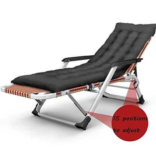 WJJJ Silla Relajante sillón de Descanso al Aire Libre Que se reclina en la Cama Plegable de jardín Plegable Textoline Zero Gravity Garden (Color: Silla + cojín)
