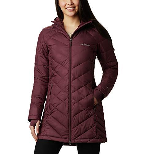 Columbia Women's Heavenly Long Hooded Jacket, Malbec, Small
