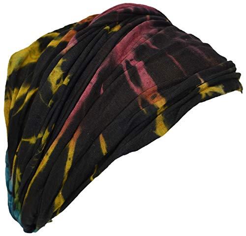 Diadema de algodón nepalés teñido hippie y colorida Gheri