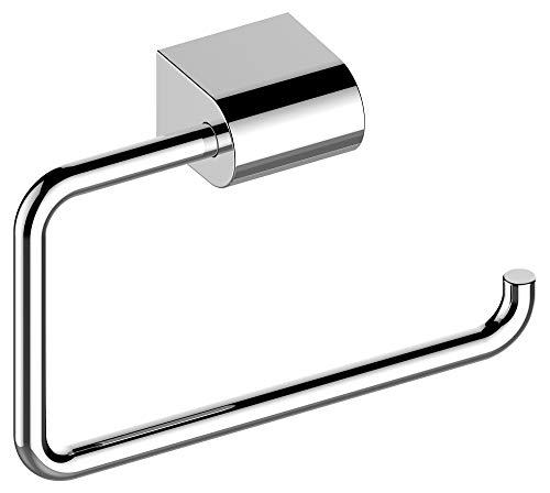KEUCO Toilettenpapierhalter aus Metall, hochglanz-verchromt, offene Form, WC-Rollenhalter für Badezimmer und Gäste-WC, Smart.2