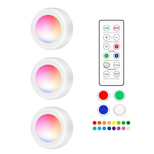 HIAHA Lámpara De Gabinete, 16 Colores RGB, Iluminación Con Sensor Táctil, Luz LED, Armario Regulable Para Iluminación Debajo Del Mostrador 3