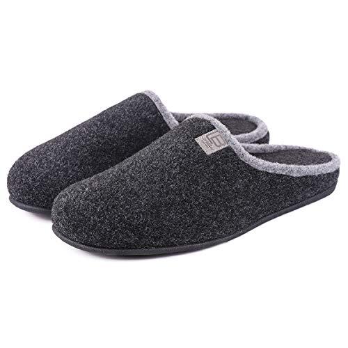 Men's Woolen Fabric Memory Foam House Slippers...