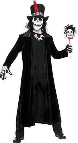 Herren Voodoo Mann Kostüm Gruselig Halloween Plus Maske Einheitsgröße Passt Brust 38