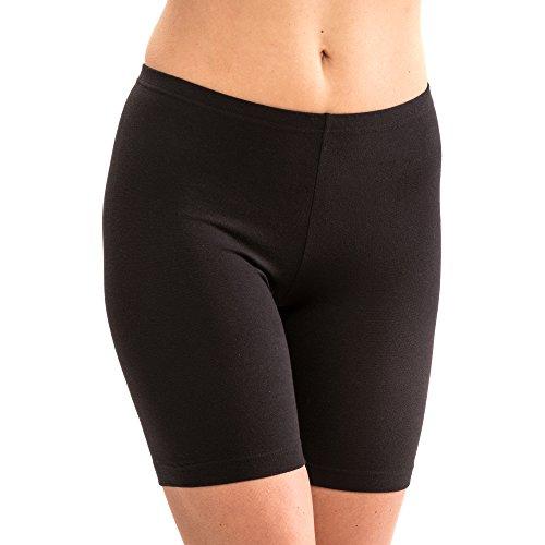 HERMKO 5780 Damen Longpant aus Baumwolle/Elastan Schlüpfer, Farbe:schwarz, Größe:36/38 (S)