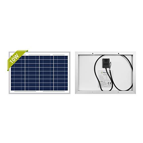 Newpowa® 10W (Watt) 12V (Volt) Polykristallines Solarpanel Batteriewartungsgerät Hocheffiziente PV-Modulleistung für das Erhaltungsladen von Boots-RV-Toröffnerzäunen und Off-Grid-Anwendungen