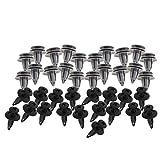 40pcs Garniture de Panneau Porte de Voiture Moulage Intérieur Clips Retenues Vis Rivets en Plastique Fixés Réparation Outils
