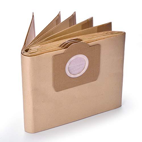 10 Pack 6.959-130.0 Papierfilter Staubbeutel A 2201/2204/2504 f¨¹r Karcher WD3 WD3P Wet & Dry Staubsauger Ersatz - Gulongome